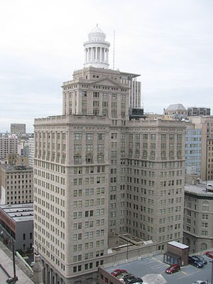Hibernia Bank Building (New Orleans) - Image: New Orleans, Louisiana building from Hilton New Orleans