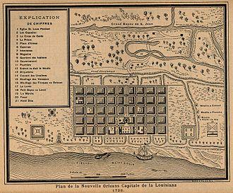 Bayou St. John - The grand Bayou St. John in 1728.
