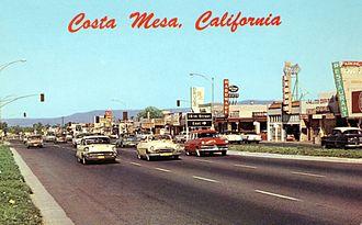 Costa Mesa, California - Newport Boulevard, 1950s