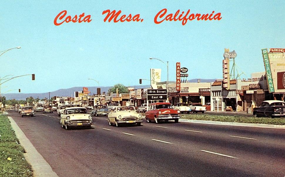 Newport Boulevard, Costa Mesa, 1950s