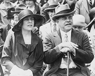 Nicholas Longworth - Nicholas Longworth and wife Alice seated outside the United States Capitol while watching a show put on by Arizona Native Americans, 1926.