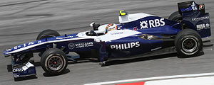 Williams FW32 - Image: Nico Hulkenberg 2010 Malaysia 2nd Free Practice