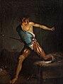 Nicolai Abildgaard, Richard III farer op af lejet skrækslagen af drømmesyner, uden datering, 0185NMK, Nivaagaards Malerisamling.jpg