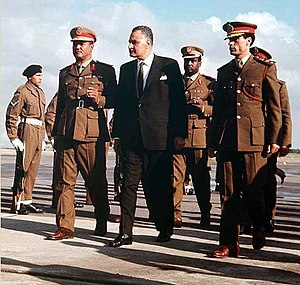 Gaafar Nimeiry - Nimeiry, Nasser and Gaddafi in Tripoli, 1969.