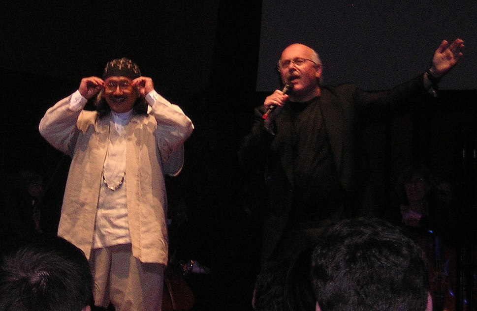 Nobuo Uematsu and Arnie Roth cropped