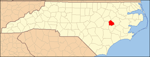 National Register of Historic Places listings in Greene County, North Carolina - Image: North Carolina Map Highlighting Greene County
