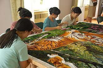 Culture of North Korea - At the Pyongyang Embroidery Institute