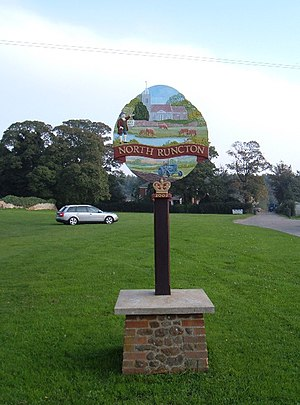 North Runcton - Image: North Runcton village sign