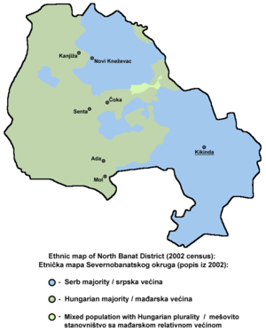 North Banat District - Ethnic map of North Banat District