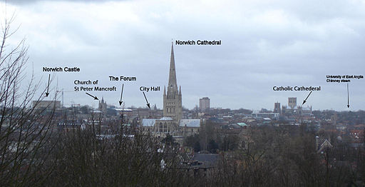 Norwich UK city skyline