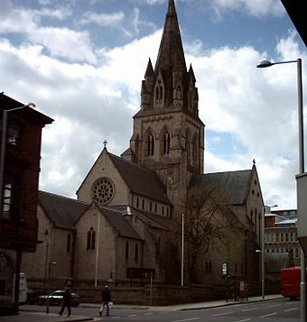 The Roman Catholic Cathedral of St. Barnabas from Derby Road Nottingham-cathedral.jpg