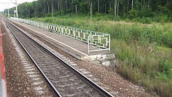 Novogromovo railway platform (south platform, view from train 5).jpg