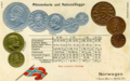 Numismatic postcard from the early 1900's - Kingdom of Norway 03.png