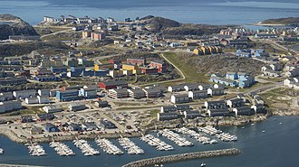 Nuussuaq (district) - Aerial view of Nuussuaq from the east