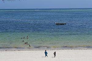 Nyali Beach from the Reef Hotel during high tide in Mombasa, Kenya 10.jpg