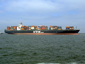 Nyk Aphrodite p3 approaching Port of Rotterdam, Holland 09-Apr-2007.jpg