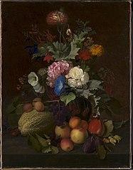 Et frugt- og blomsterstykke