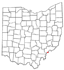 Location of Belpre, Ohio