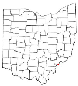 Belpre, Ohio - Image: OH Map doton Belpre