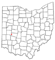 Location of New Carlisle, Ohio