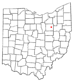 Location of Orrville, Ohio