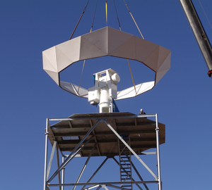 OU-PRIME - Lifting of radome base for OU-PRIME