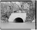 OUTLET TUNNEL PORTAL AT DAM AFTERBAY. VIEW TO NORTHWEST. - Owyhee Dam, Across Owyhee River, Nyssa, Malheur County, OR HAER ORE,23-NYS.V,1-22.tif