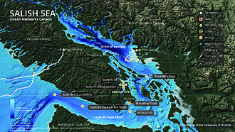 Ocean Networks Canada - Ocean Networks Canada installations and data sources in the Salish Sea.