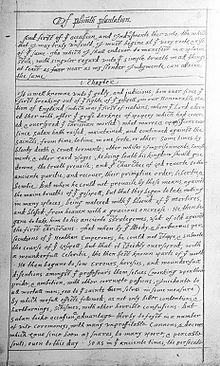 Of Plymouth Plantation Wikipedia