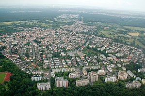 Offenbach-Bieber - Aerial picture of Bieber from the west