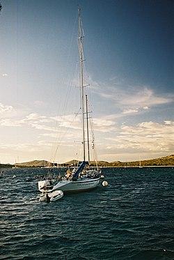 A modern yacht