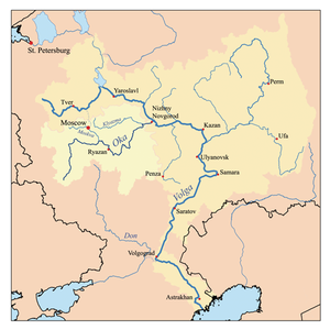 Expansion of Russia 1500–1800 - From 1500 to 1800 Russia expanded from the Oka River to the Black Sea