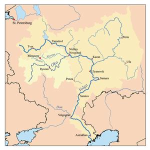 Oka River - Image: Okarivermap