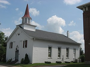 First Baptist Church (Elizabethtown, Kentucky) - Front and side of the church