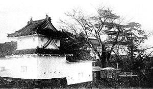 Ōgaki, Gifu - Ōgaki Castle in 1933