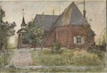 Old Sundborn Church. From A Home (26 watercolours) (Carl Larsson) - Nationalmuseum - 24222.tif