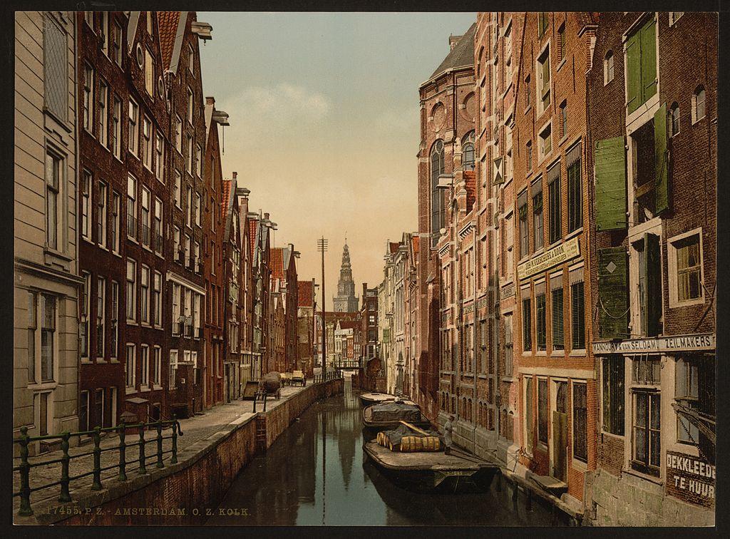 Quartier rouge d'Amsterdam en 1900