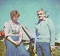 Olga i Jan Bielak, dzierzawcy schroniska Prehyba, 1988.jpg