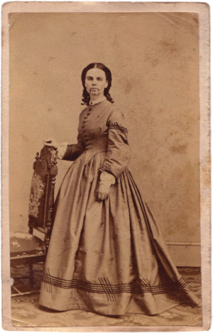 Olive Oatman - Olive Oatman, carte de visite, circa 1863