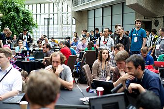 Opening of the Wikimania 2014 Hackathon 03.jpg