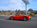 Orange ferrari enzo driving (2992812856).jpg