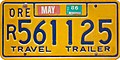 Oregon 1986 Travel Trailer license plate - Irwin-Hodson Type.jpg