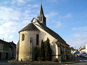 Eglise d'Orry la ville le long du GR1
