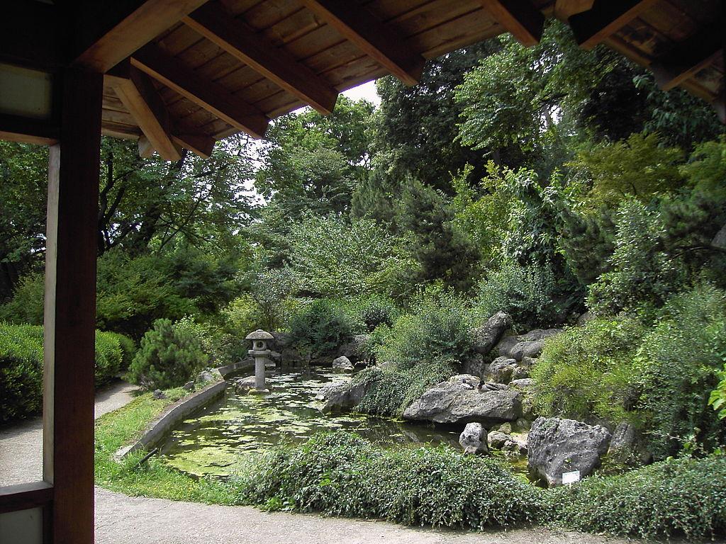 Jardin japonais du jardin botanique de Rome.