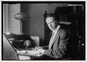 Ossip Gabrilowitsch - Ossip Gabrilowitsch in 1915