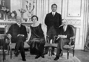 Štefan Osuský - Tomáš Garrigue Masaryk visiting Paris in 1923, accompanied by Edvard Beneš, Ambassador Štefan Osuský a Mrs Osuská