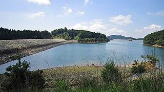 Okawachi Pumped Storage Power Station Dam in Hase, Kanzaki district, Hyōgo