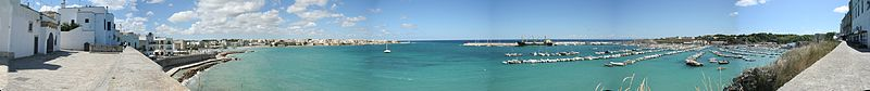 Panorama of Otranto port