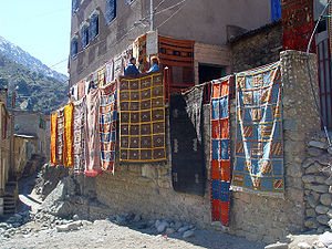 Ourika River - Image: Ourika Valley Carpets