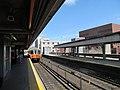 Outbound Orange Line train at Malden Center, April 2013.jpg